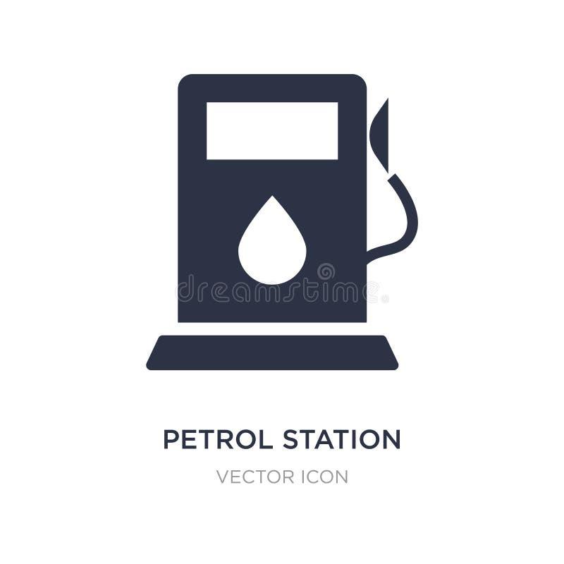icône de station-service sur le fond blanc Illustration simple d'élément de concept de transport illustration stock
