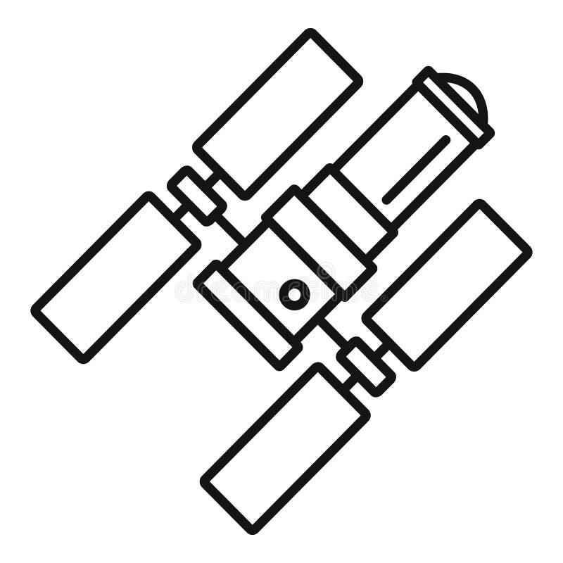 Icône de station spatiale, style d'ensemble illustration de vecteur