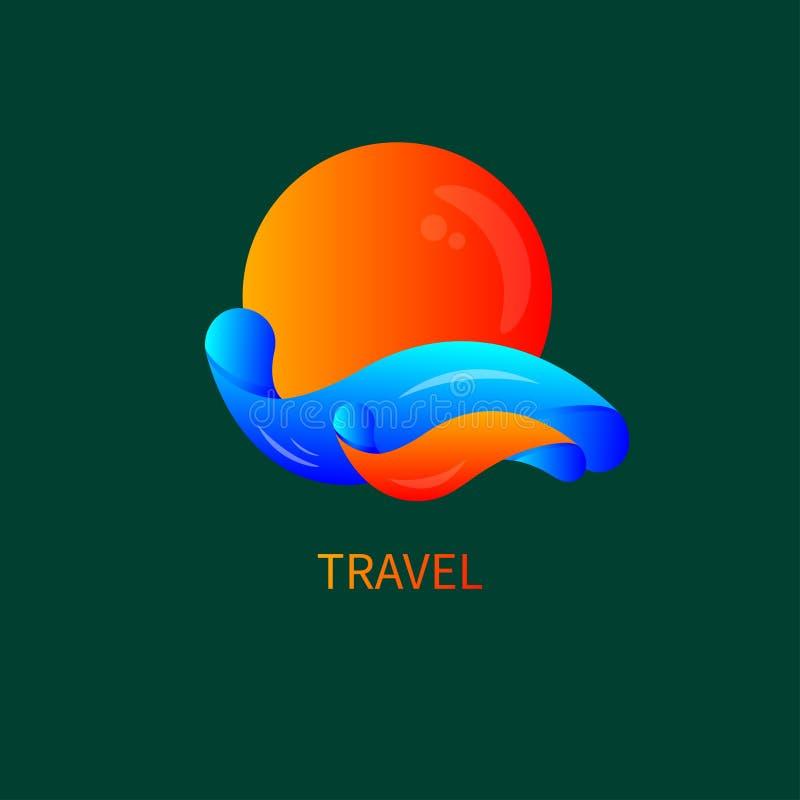 Icône de station de vacances, station thermale illustration stock