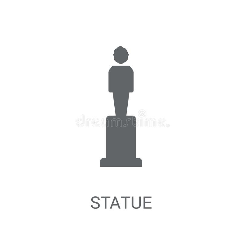 Icône de statue  illustration stock