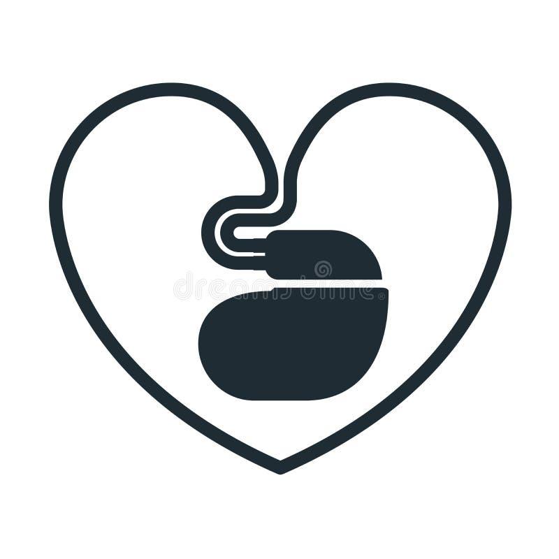 Icône de stimulateur cardiaque illustration libre de droits