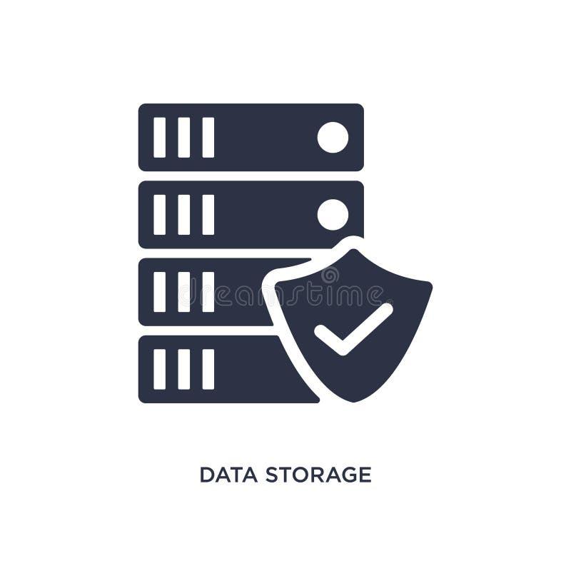 icône de stockage de données sur le fond blanc Illustration simple d'élément de concept de gdpr illustration stock