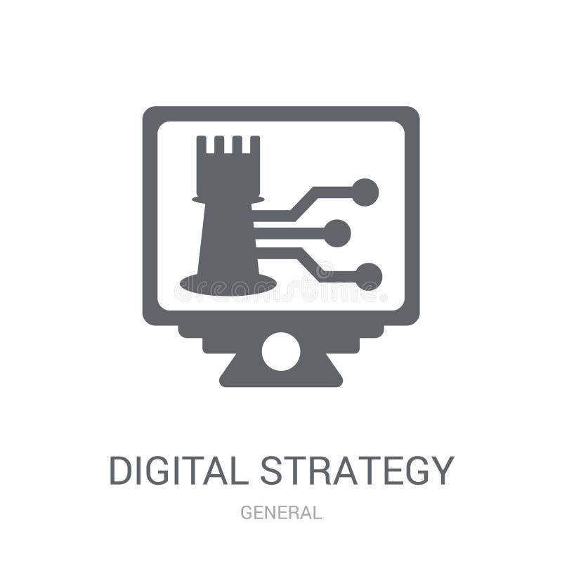 Icône de stratégie de Digital  illustration de vecteur