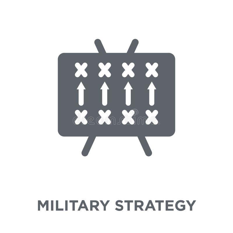 Icône de stratégie militaire de collection d'armée illustration stock