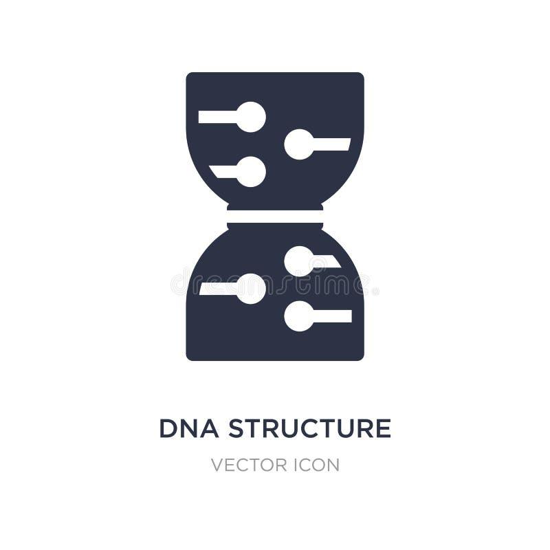 icône de structure d'ADN sur le fond blanc Illustration simple d'élément du futur concept de technologie illustration libre de droits