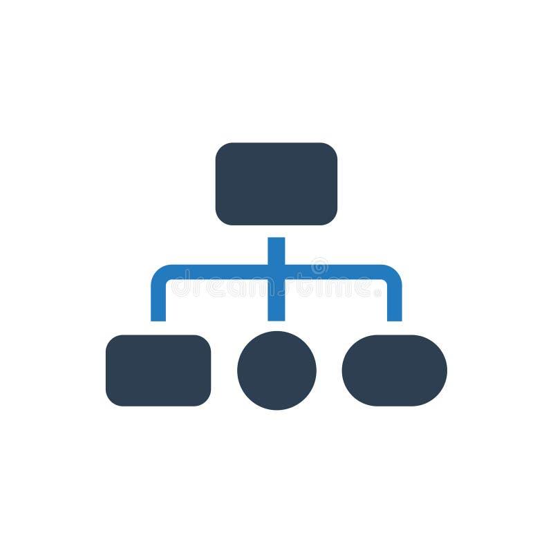 Icône de structure de hiérarchie illustration stock