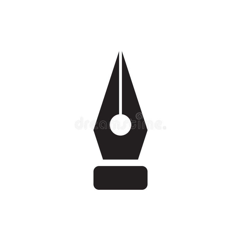 Icône de stylo-plume, style plat minimal moderne de conception illustration libre de droits