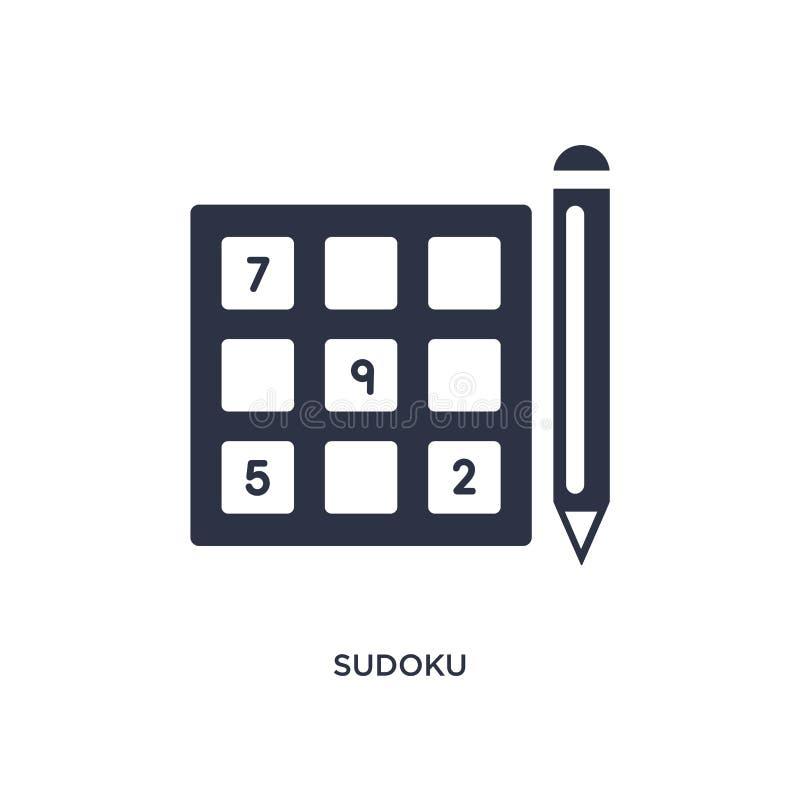 icône de sudoku sur le fond blanc Illustration simple d'élément de concept de temps libre illustration de vecteur