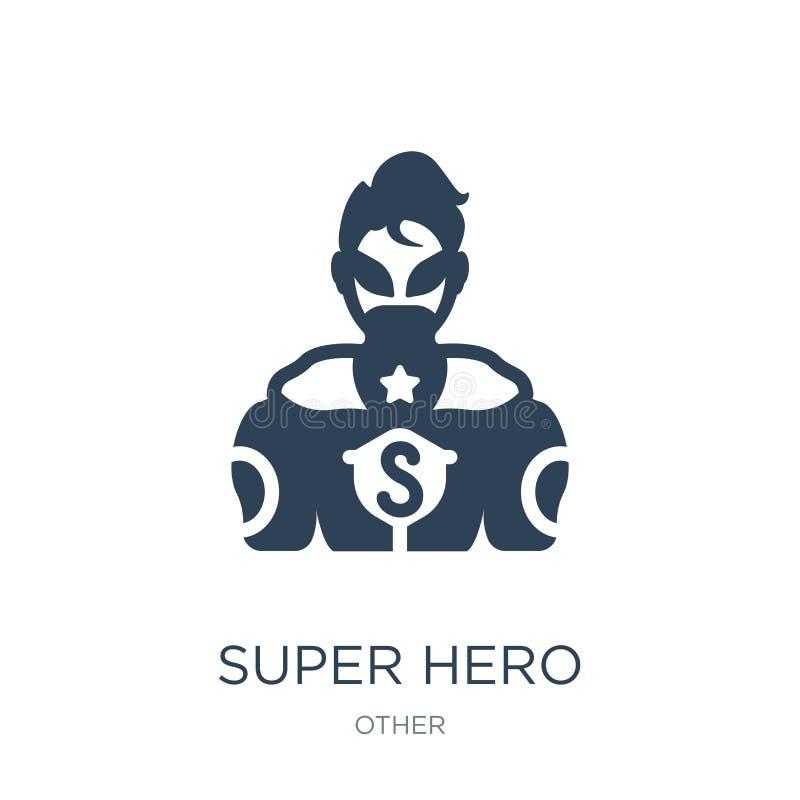 icône de superhéros dans le style à la mode de conception icône de superhéros d'isolement sur le fond blanc icône de vecteur de s illustration libre de droits