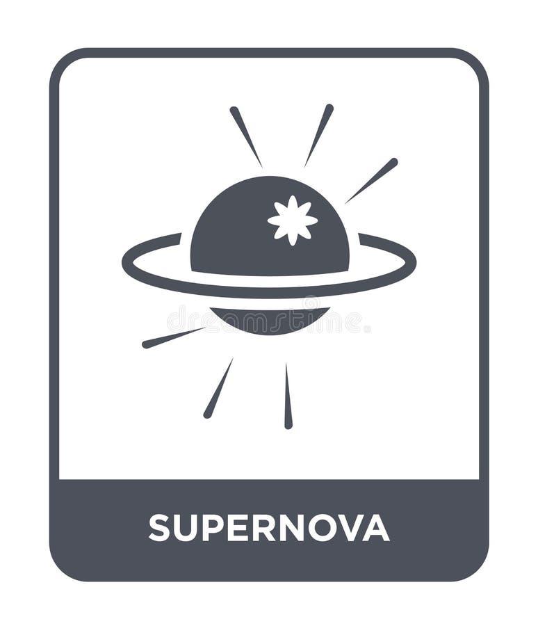 icône de supernova dans le style à la mode de conception icône de supernova d'isolement sur le fond blanc appartement simple et m illustration de vecteur