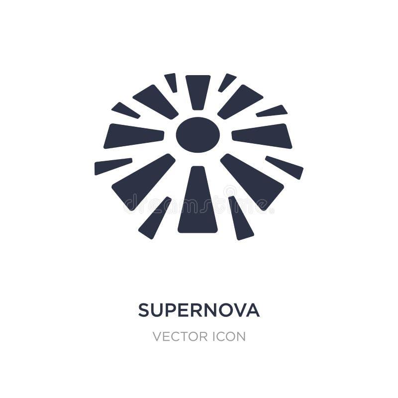 icône de supernova sur le fond blanc Illustration simple d'élément de concept d'astronomie illustration de vecteur