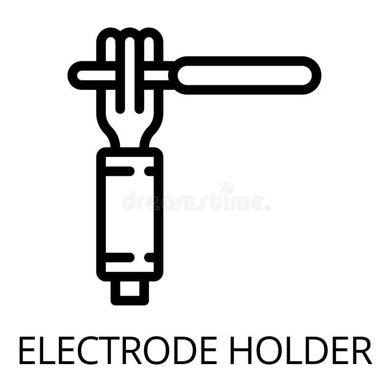 Icône de support de main d'électrode, style d'ensemble illustration stock