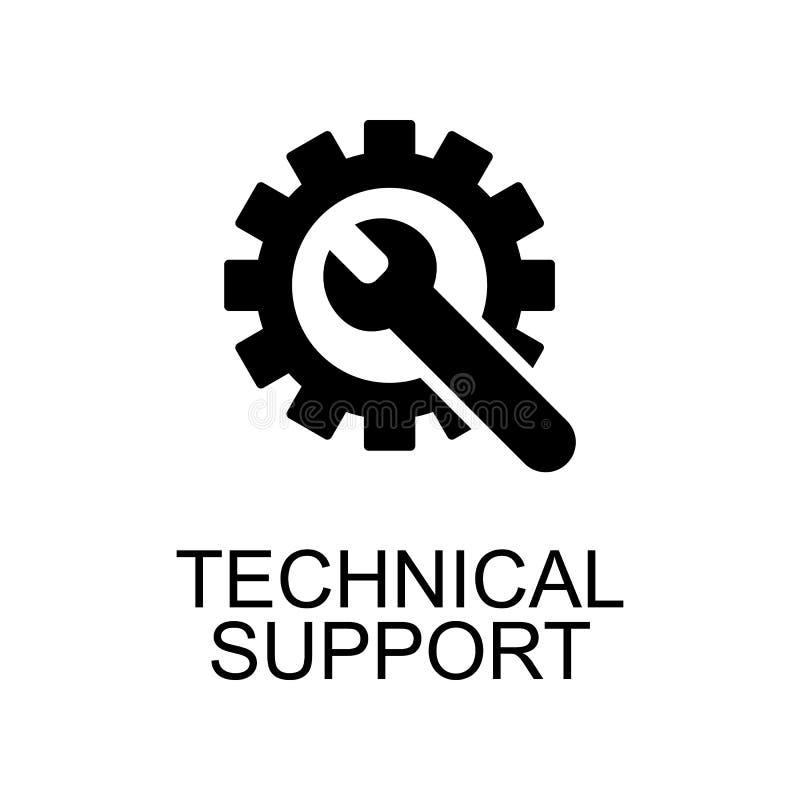 icône de support technique Élément d'icône de seo et de développement avec nom pour le concept mobile et les applications Web App illustration de vecteur