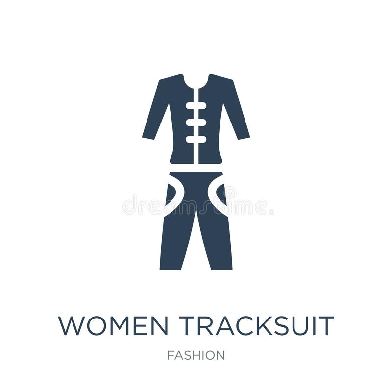 icône de survêtement de femmes dans le style à la mode de conception icône de survêtement de femmes d'isolement sur le fond blanc illustration de vecteur