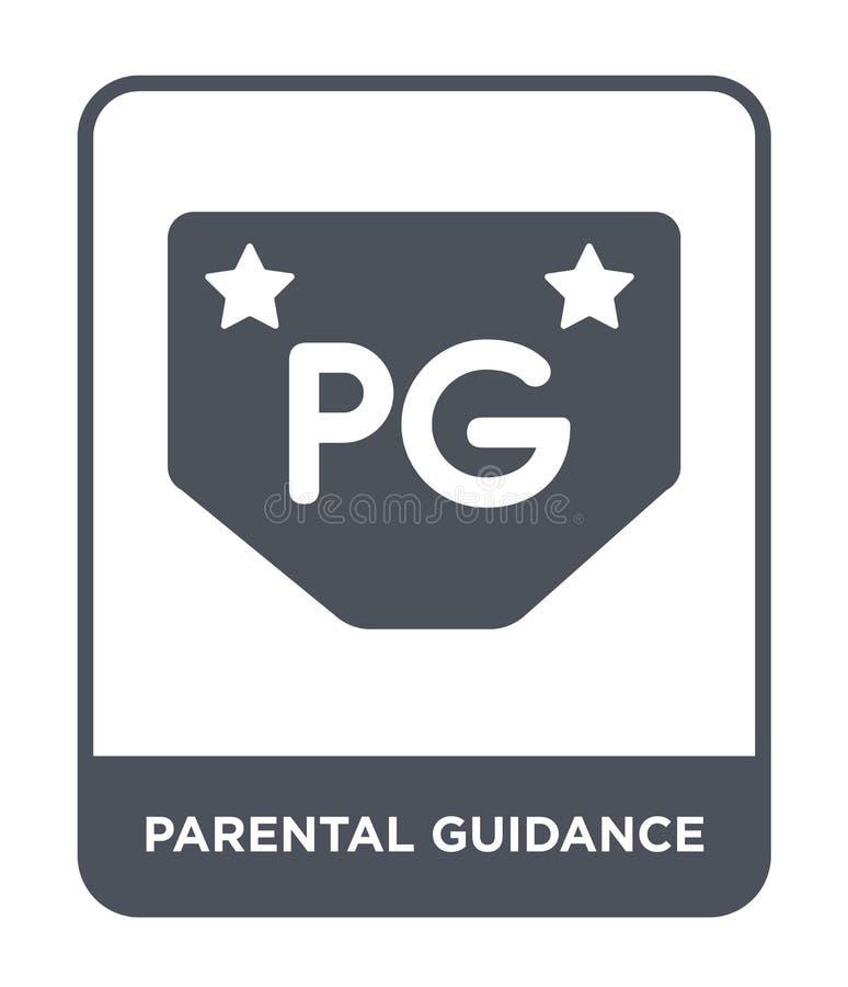 icône de surveillance parentale dans le style à la mode de conception icône de surveillance parentale d'isolement sur le fond bla illustration stock