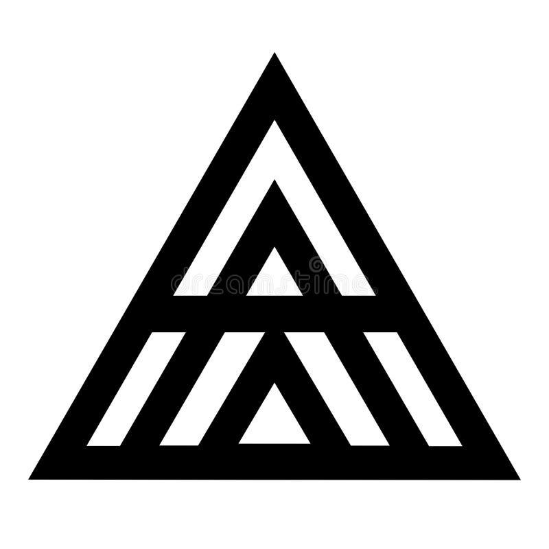 Icône de symbole de cinq triangles illustration libre de droits