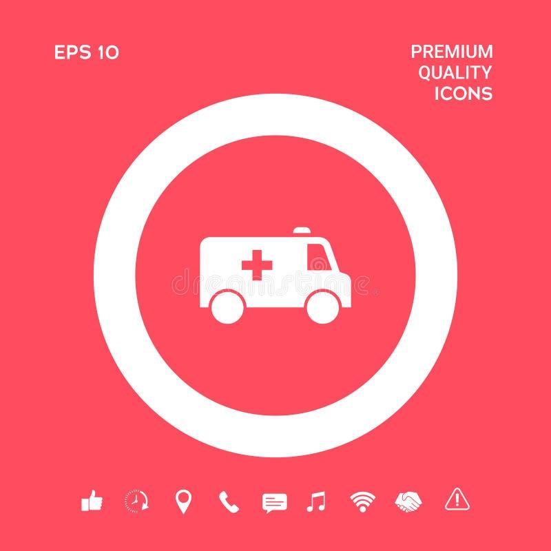 Icône de symbole d'ambulance Éléments graphiques pour votre conception illustration libre de droits