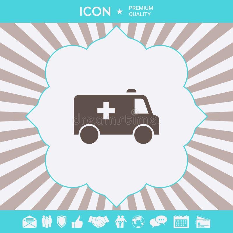 Icône de symbole d'ambulance Éléments graphiques pour votre conception illustration de vecteur
