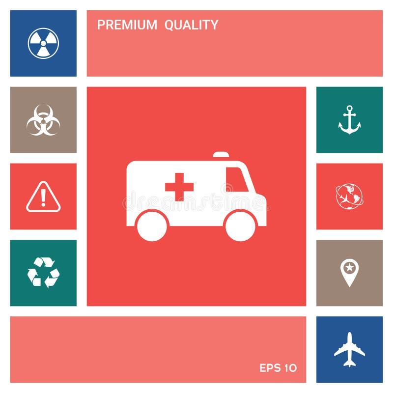Icône de symbole d'ambulance Éléments pour votre conception illustration libre de droits