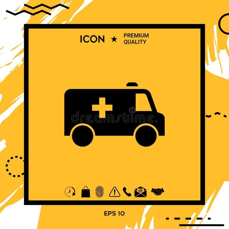 Icône de symbole d'ambulance illustration libre de droits