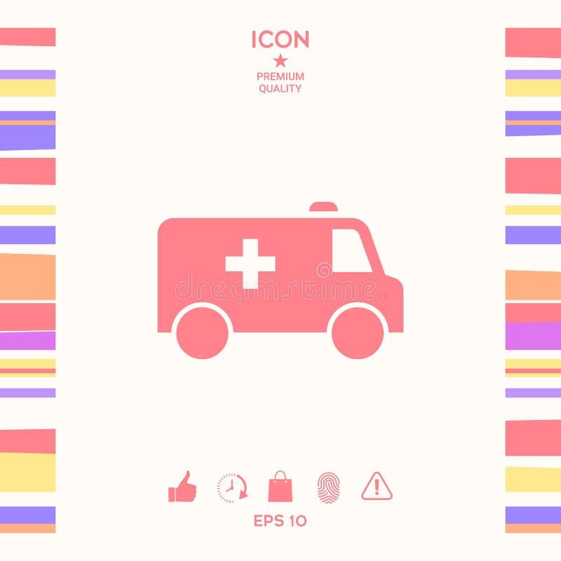 Icône de symbole d'ambulance illustration de vecteur
