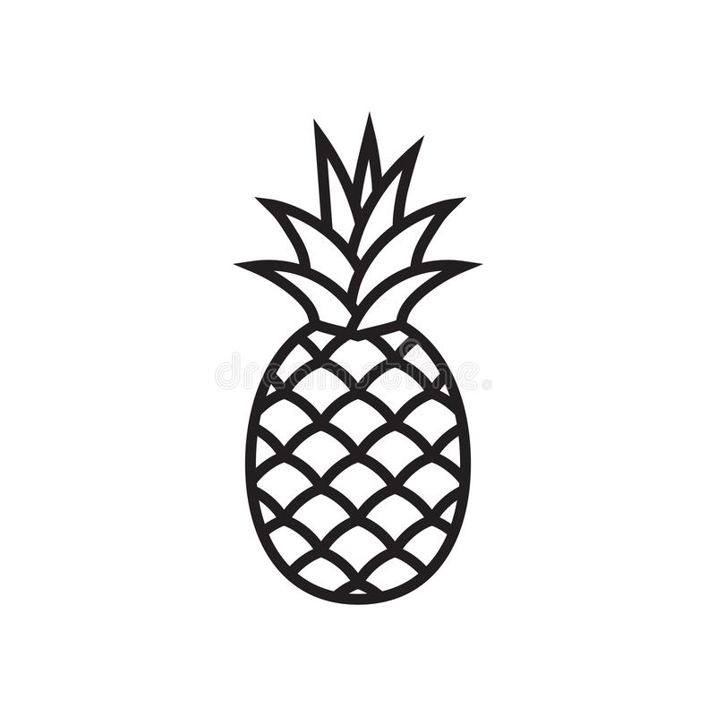 Icône de symbole d'ananas photo stock
