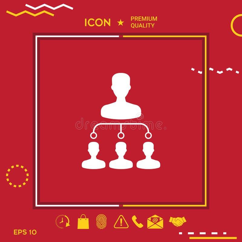 Icône de symbole de hiérarchie illustration stock
