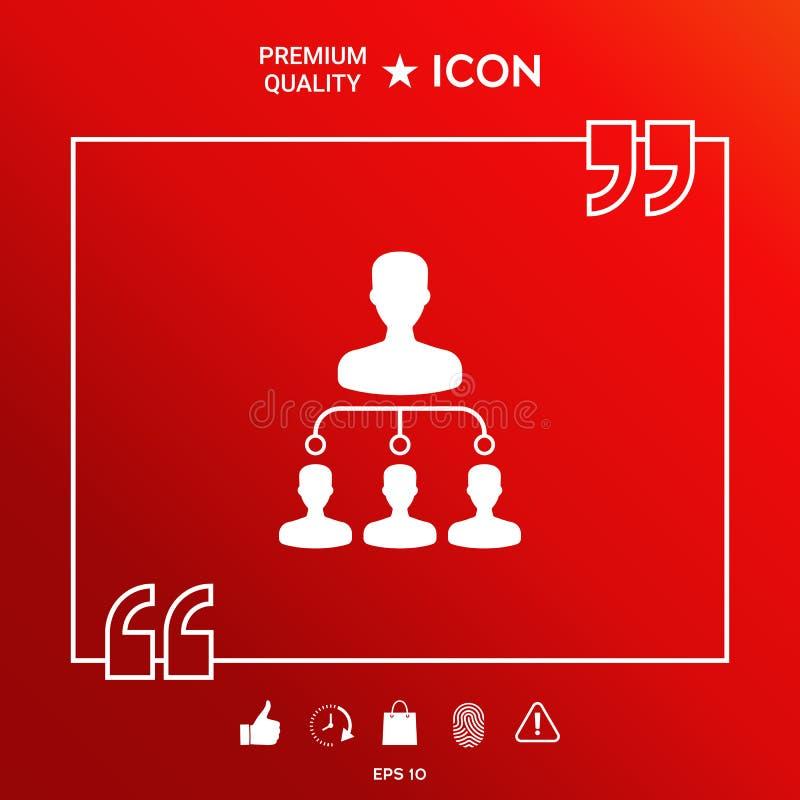 Icône de symbole de hiérarchie illustration de vecteur