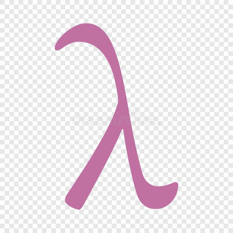 Icône de symbole de lambda illustration stock