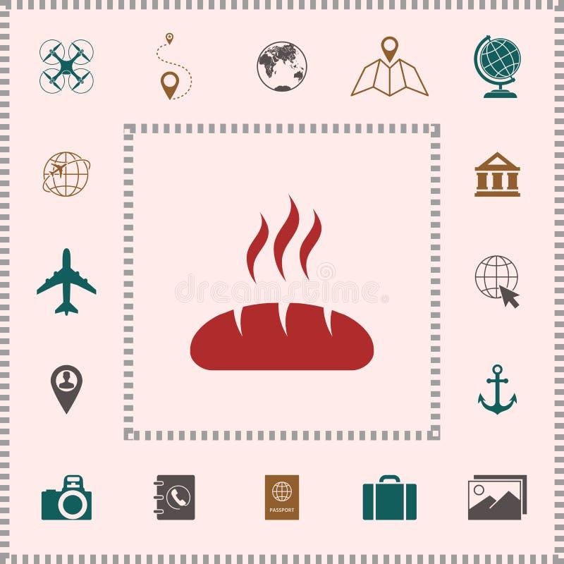 Icône de symbole de pain illustration libre de droits