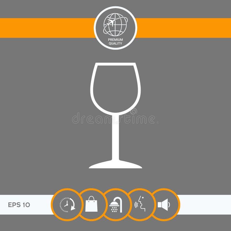Icône de symbole de verre à vin illustration libre de droits