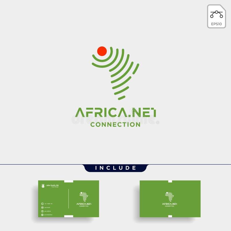 icône de symbole de wifi d'Internet de vecteur de conception de logo de signal de l'Afrique illustration stock