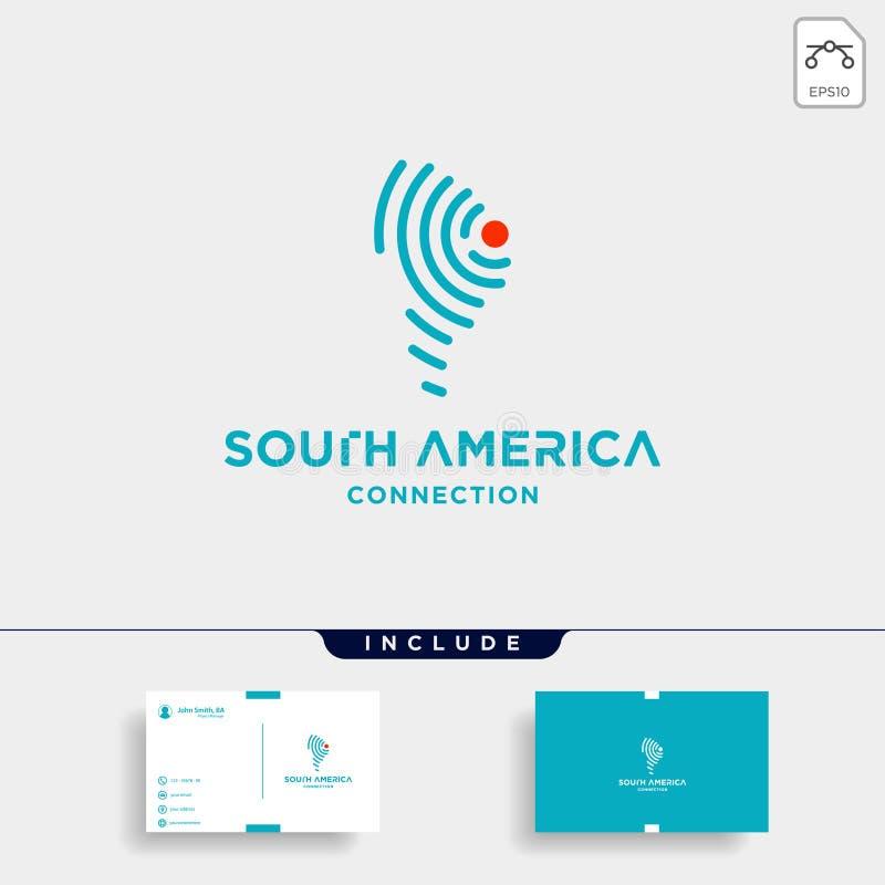 icône de symbole de wifi d'Internet de vecteur de conception de logo de signal de l'Amérique du Sud illustration libre de droits