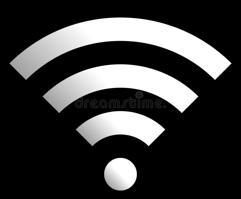 Icône de symbole de Wifi - gradient simple blanc, d'isolement - vecteur illustration libre de droits