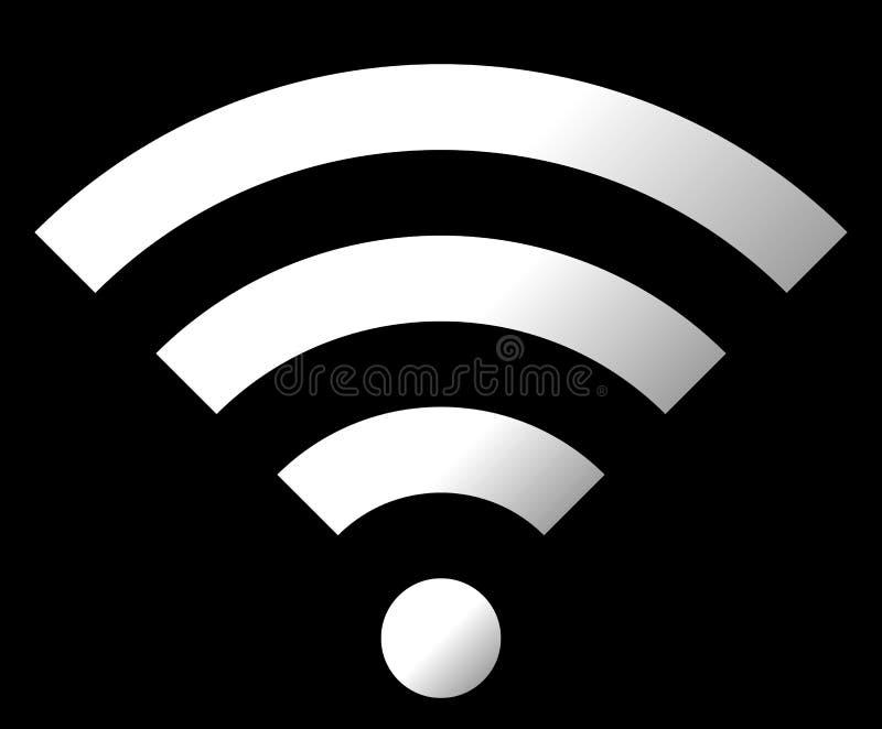 Icône de symbole de Wifi - gradient simple blanc, d'isolement - vecteur illustration stock