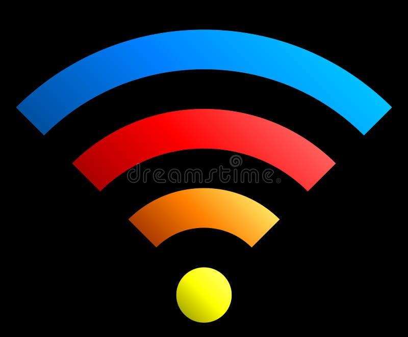 Icône de symbole de Wifi - gradient simple coloré, d'isolement - vecteur illustration stock