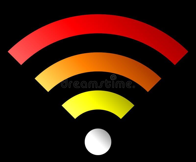Icône de symbole de Wifi - gradient simple coloré, d'isolement - vecteur illustration de vecteur