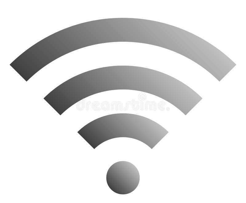 Icône de symbole de Wifi - gradient simple gris moyen, d'isolement - vecteur illustration stock