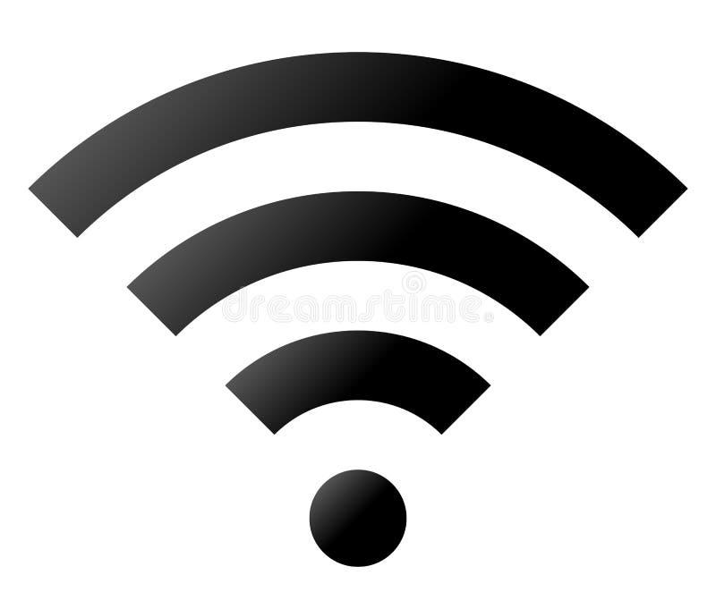 Icône de symbole de Wifi - gradient simple noir, d'isolement - vecteur illustration stock