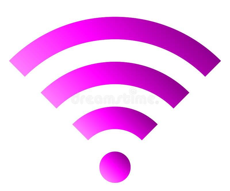 Icône de symbole de Wifi - gradient simple pourpre, d'isolement - vecteur illustration de vecteur
