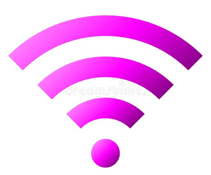 Icône de symbole de Wifi - gradient simple pourpre, d'isolement - vecteur illustration libre de droits
