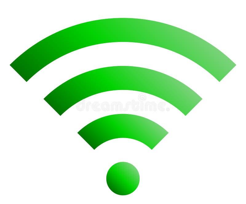 Icône de symbole de Wifi - gradient simple vert, d'isolement - vecteur illustration stock