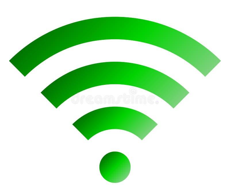 Icône de symbole de Wifi - gradient simple vert, d'isolement - vecteur illustration libre de droits