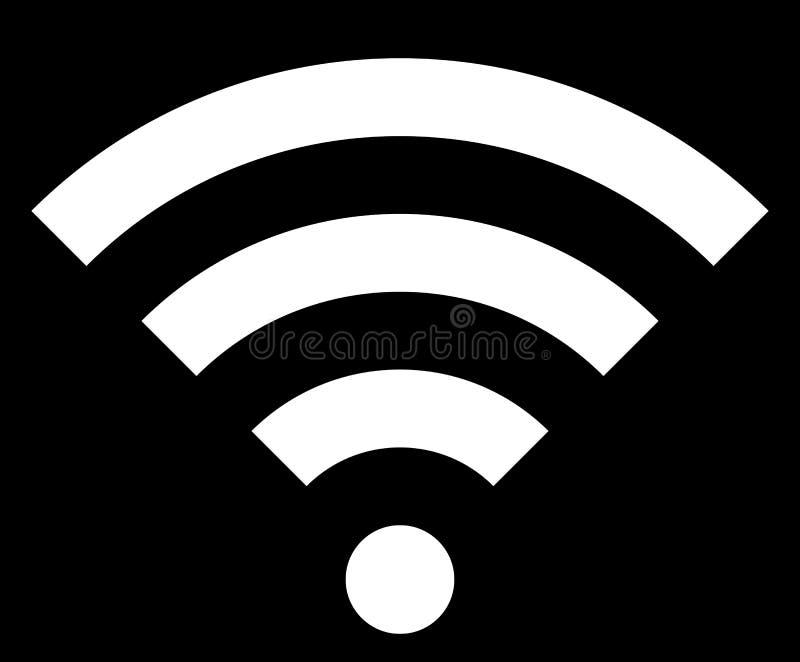 Icône de symbole de Wifi - simple blanc, d'isolement - vecteur illustration libre de droits