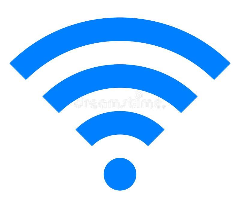 Icône de symbole de Wifi - simple bleu, d'isolement - vecteur illustration de vecteur