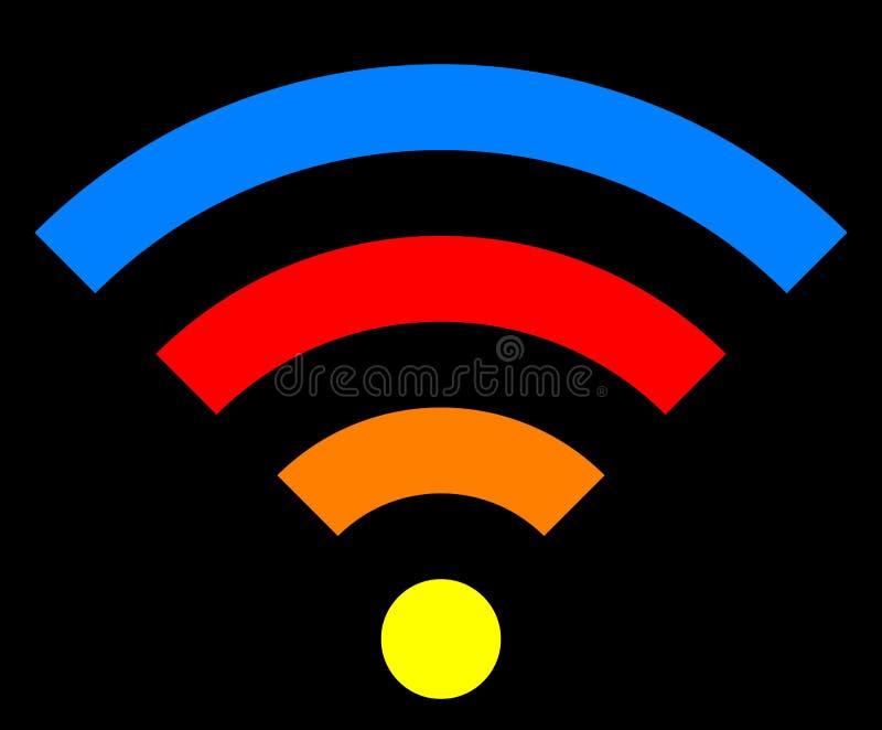 Icône de symbole de Wifi - simple coloré, d'isolement - vecteur illustration stock