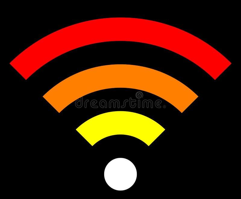 Icône de symbole de Wifi - simple coloré, d'isolement - vecteur illustration de vecteur