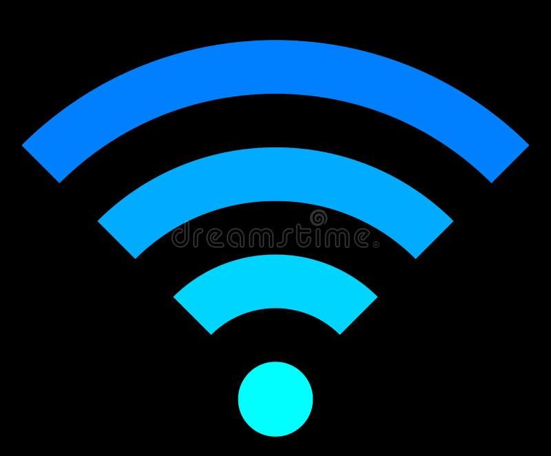 Icône de symbole de Wifi - simple coloré, d'isolement - vecteur illustration libre de droits