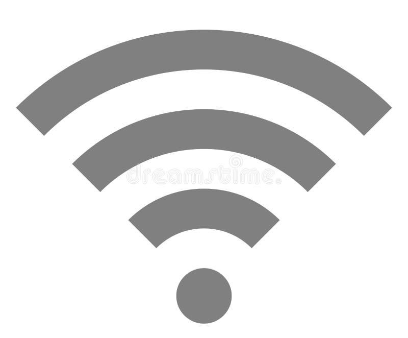 Icône de symbole de Wifi - simple gris moyen, d'isolement - vecteur illustration libre de droits