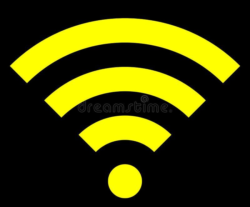 Icône de symbole de Wifi - simple jaune, d'isolement - vecteur illustration de vecteur